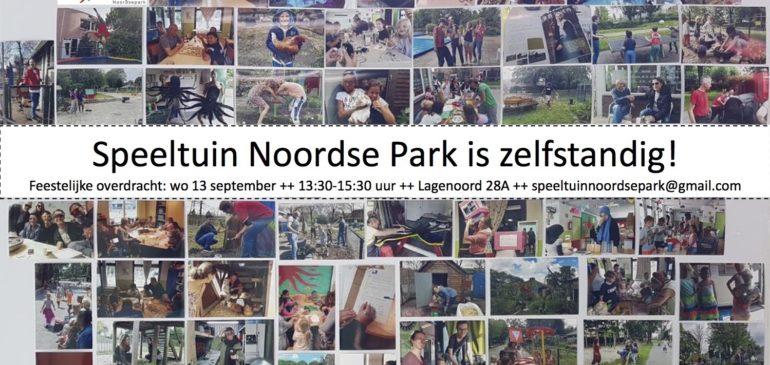 Speeltuin Noordse Park is zelfstandig!
